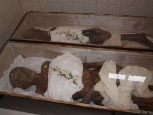 On our baseball trip of 2009, we met the mummies of Philippi, WV.